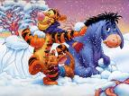 Tigger and eeyore in the snow
