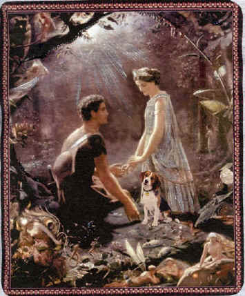 Painting of Hermia and Lysander