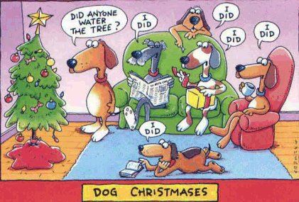 Dogs for Christmas forever